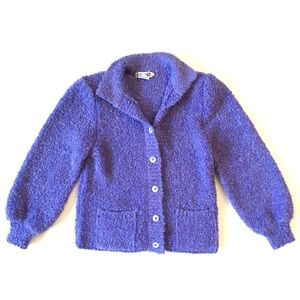 Vintage Adele Joyce Knit Cropped Cardigan Sweater